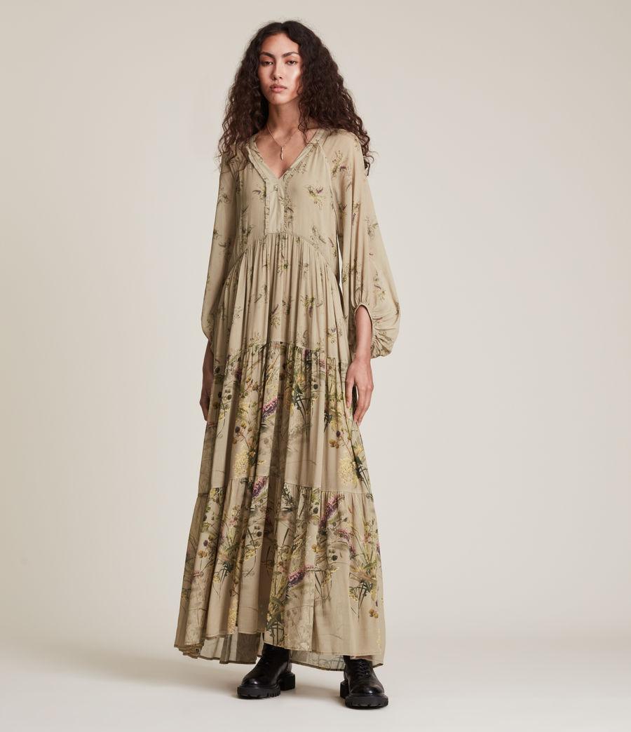 Women's Trude Caledonian Dress (khaki_green) - Image 2