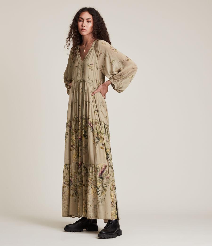 Women's Trude Caledonian Dress (khaki_green) - Image 3