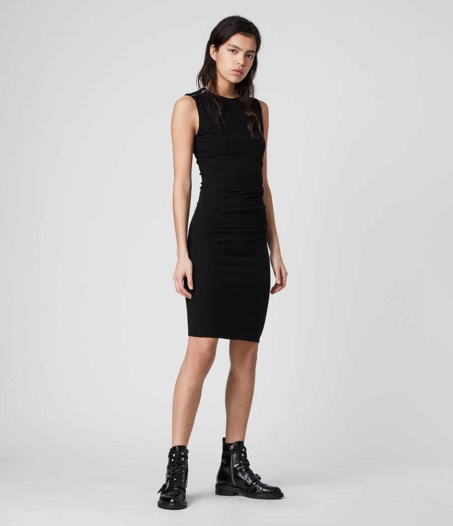 Womens Rina Dress (black) - Image 1