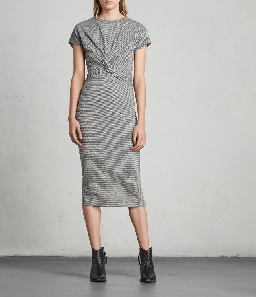Donne Abito Paloma Stripe (charcoal_grey) - Image 1