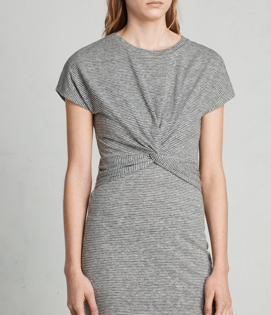 Donne Abito Paloma Stripe (charcoal_grey) - Image 2