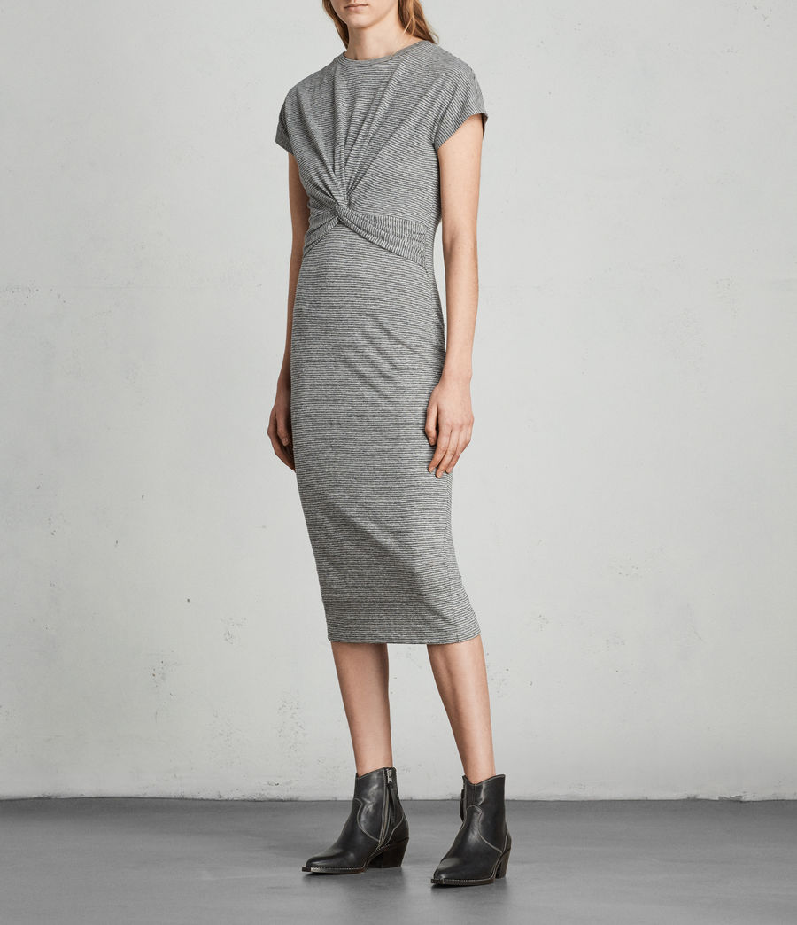Donne Abito Paloma Stripe (charcoal_grey) - Image 3