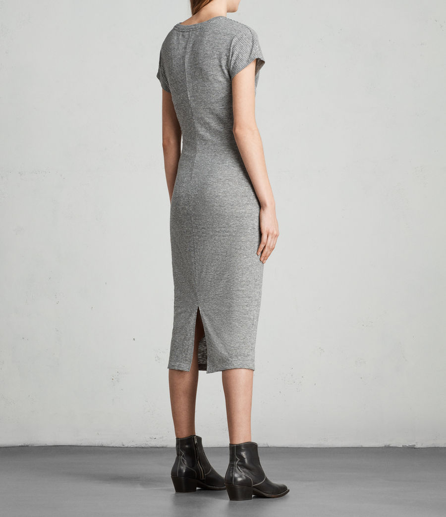 Donne Abito Paloma Stripe (charcoal_grey) - Image 4