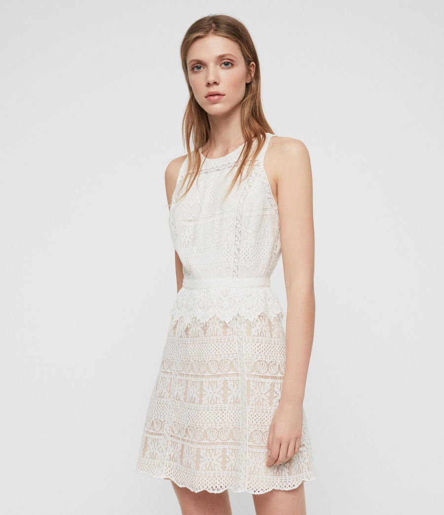 Womens Melia Dress (oyster_white) - Image 1