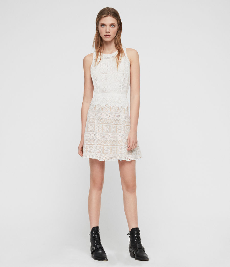 Women's Melia Dress (oyster_white) - Image 2