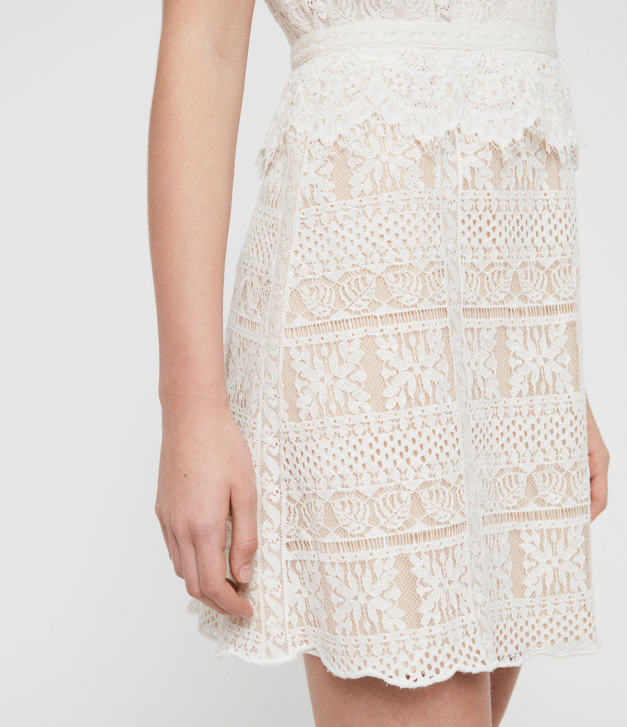 Women's Melia Dress (oyster_white) - Image 3