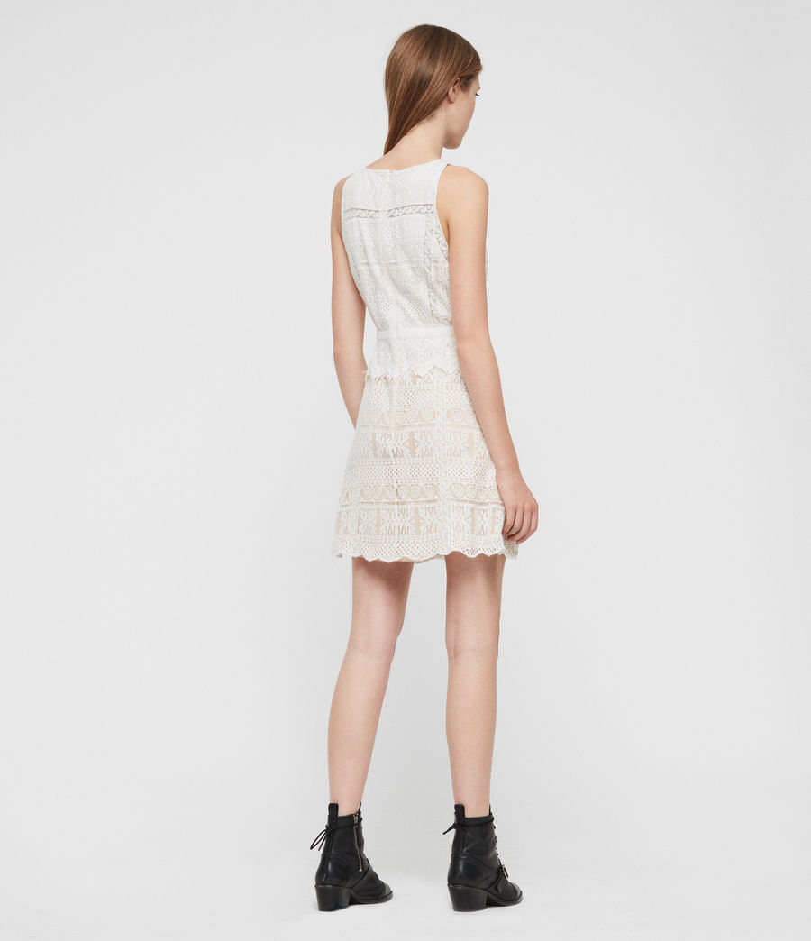 Women's Melia Dress (oyster_white) - Image 5
