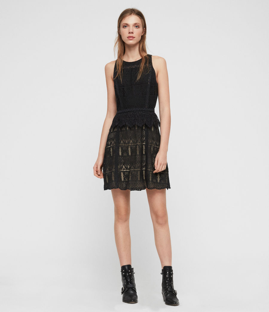 Womens Melia Dress (black) - Image 1