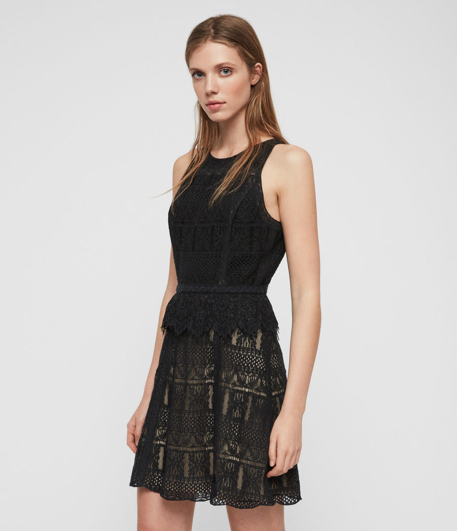Womens Melia Dress (black) - Image 2