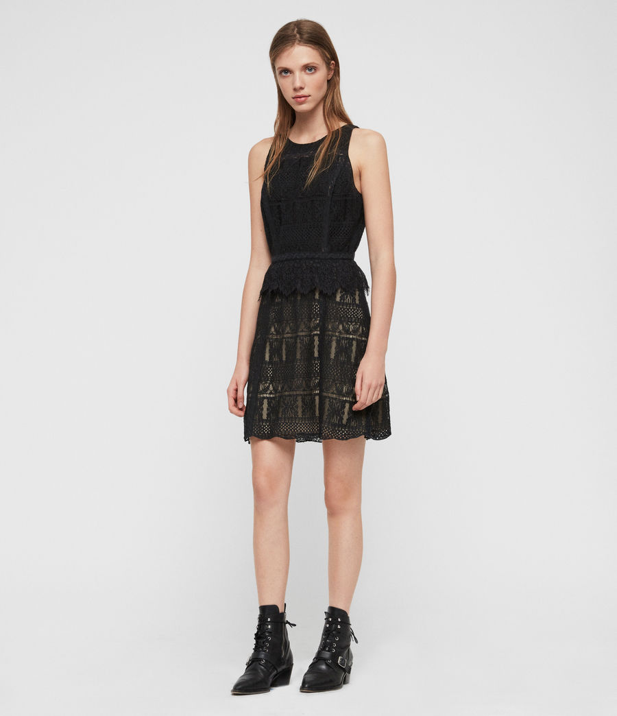 Womens Melia Dress (black) - Image 5