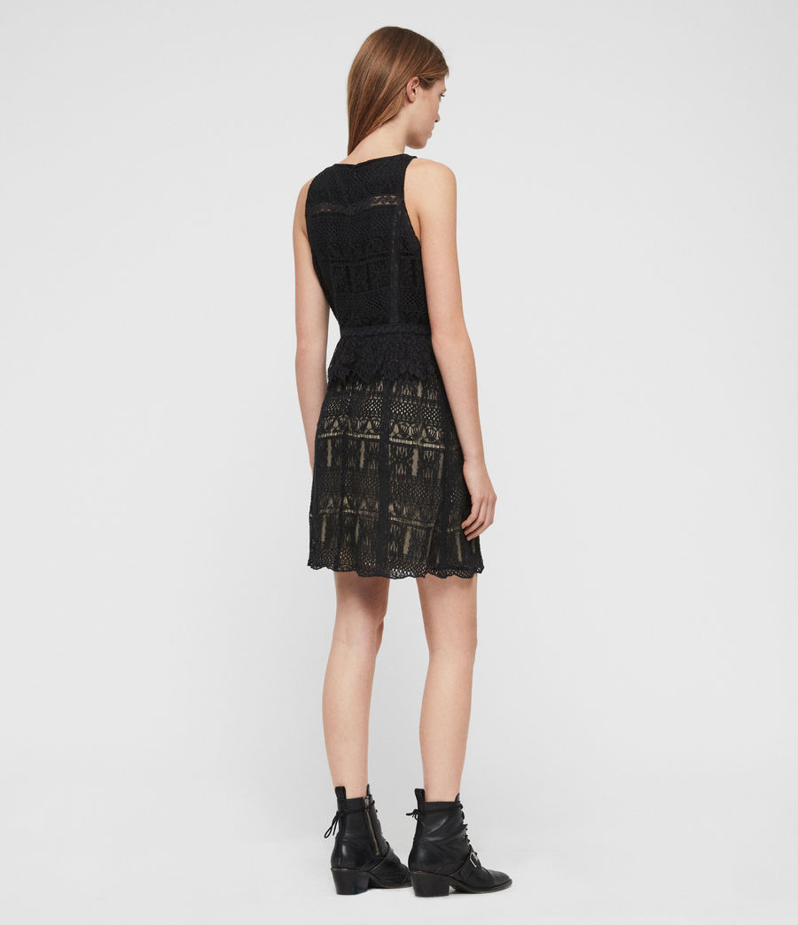Womens Melia Dress (black) - Image 6
