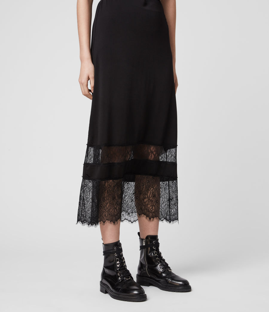 Womens Fran 2-in-1 Lace Dress (black) - Image 4