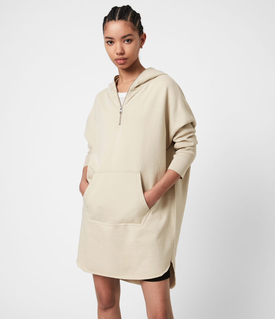 Women's Xonda Hoodie Dress (ecru_white) - Image 1