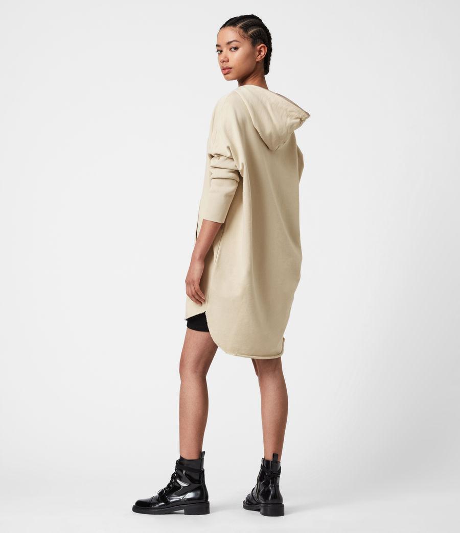 Women's Xonda Hoodie Dress (ecru_white) - Image 4