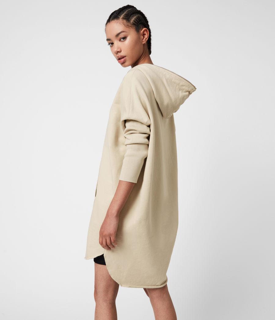Women's Xonda Hoodie Dress (ecru_white) - Image 7