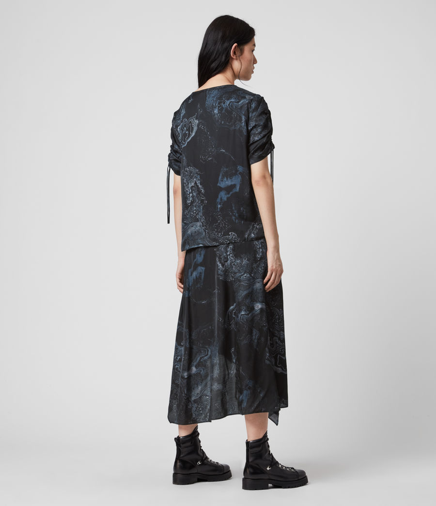 Women's Rafaela Hatsukoi Dress (oil_black) - Image 5