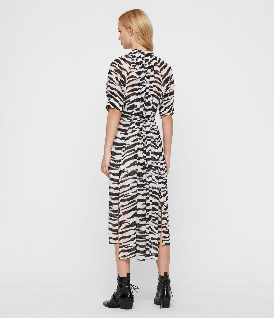 Women's Xena Long Zephyr Dress (ecru_white_black) - Image 5