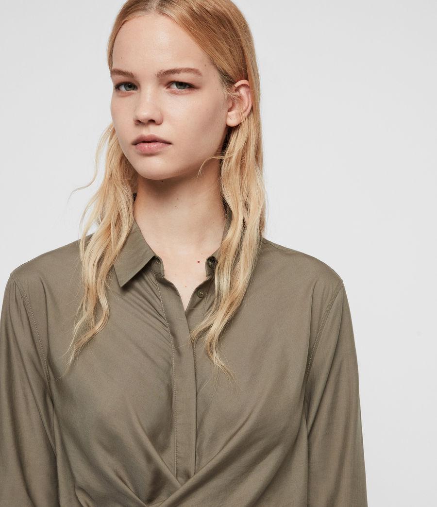 Womens Flyn Dress (khaki_green) - Image 2