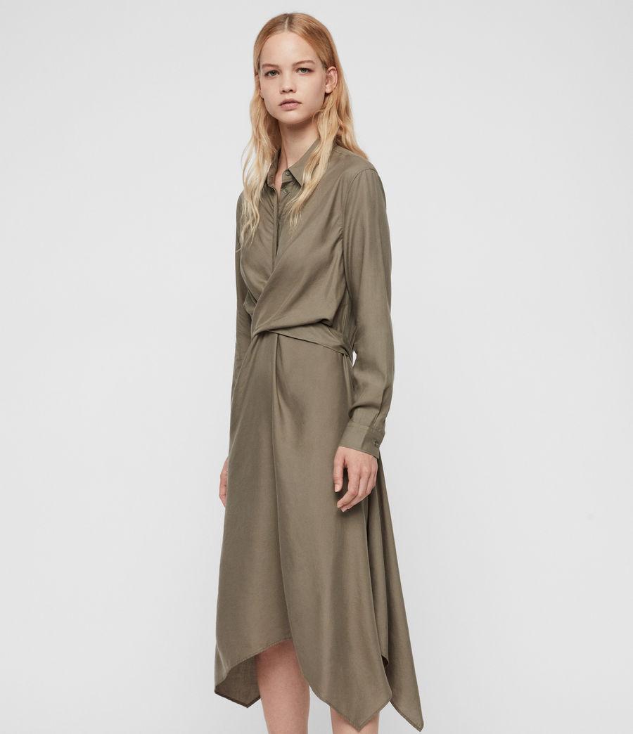Womens Flyn Dress (khaki_green) - Image 4