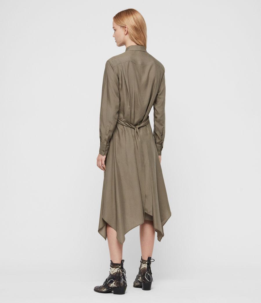 Mujer Flyn Dress (khaki_green) - Image 5
