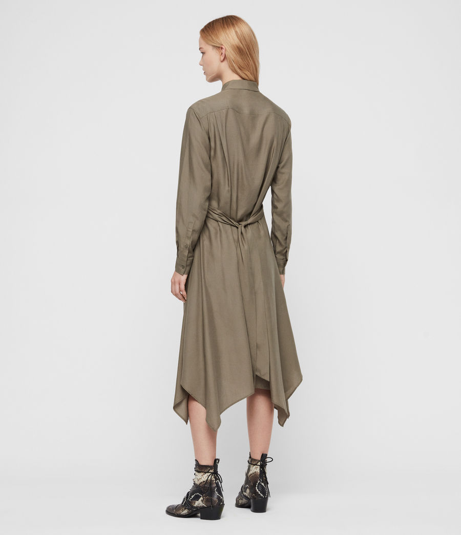 Womens Flyn Dress (khaki_green) - Image 5
