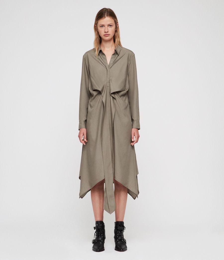 Mujer Flyn Dress (khaki_green) - Image 6
