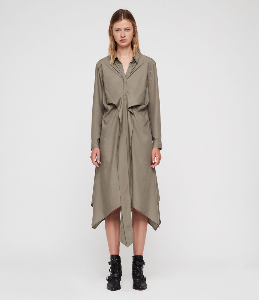 Womens Flyn Dress (khaki_green) - Image 6