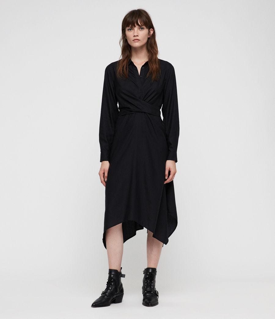 Womens Flyn Dress (black) - Image 1