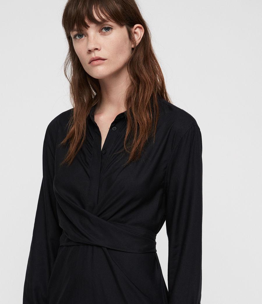 Womens Flyn Dress (black) - Image 2