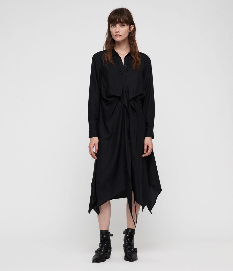 Womens Flyn Dress (black) - Image 3