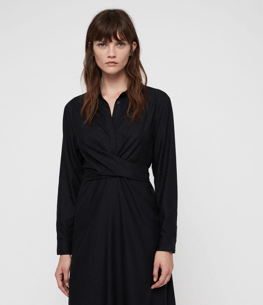 Womens Flyn Dress (black) - Image 4