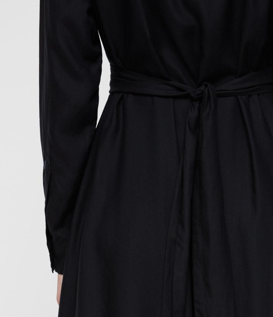 Womens Flyn Dress (black) - Image 5