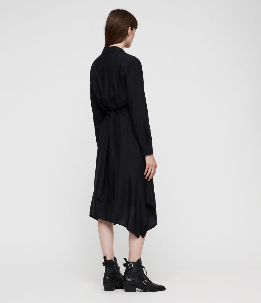 Womens Flyn Dress (black) - Image 6