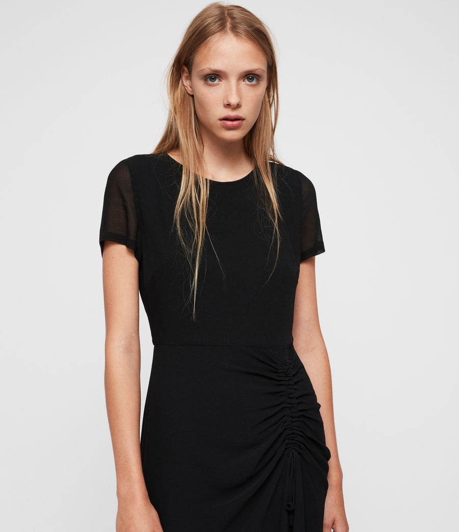 Womens Ariya Dress (black) - Image 2