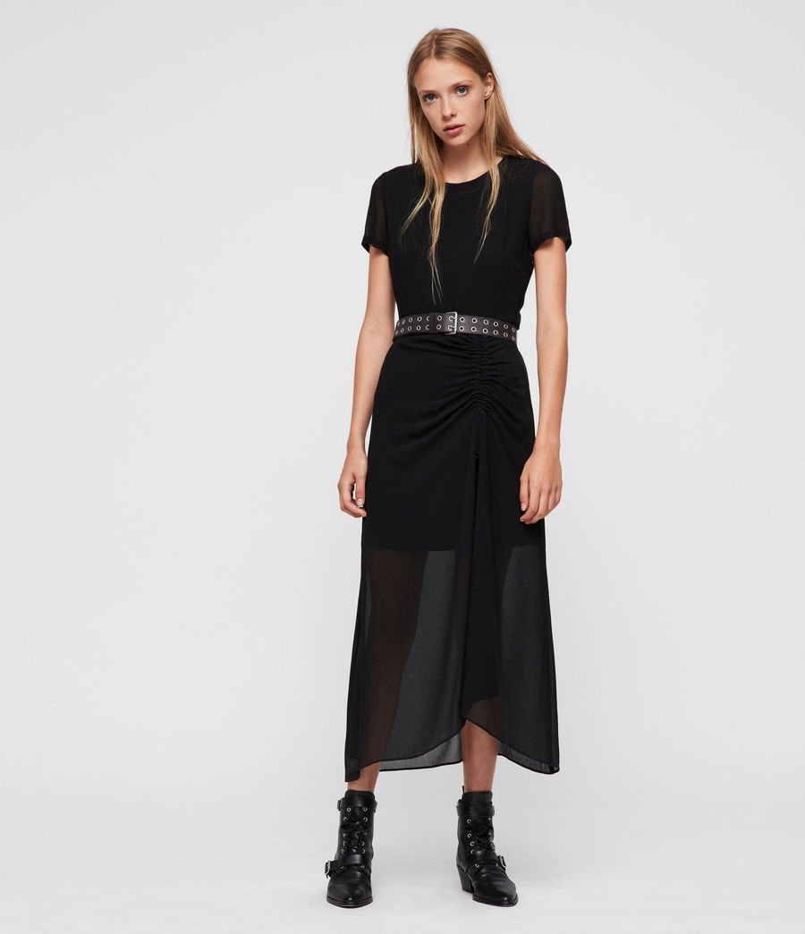 Womens Ariya Dress (black) - Image 4
