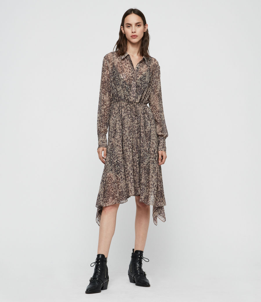 Women's Lizzy Patch Dress (camel_brown) - Image 1