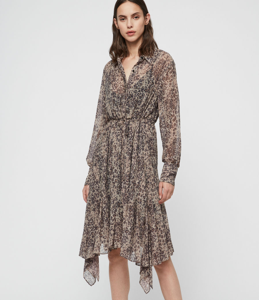 Women's Lizzy Patch Dress (camel_brown) - Image 3