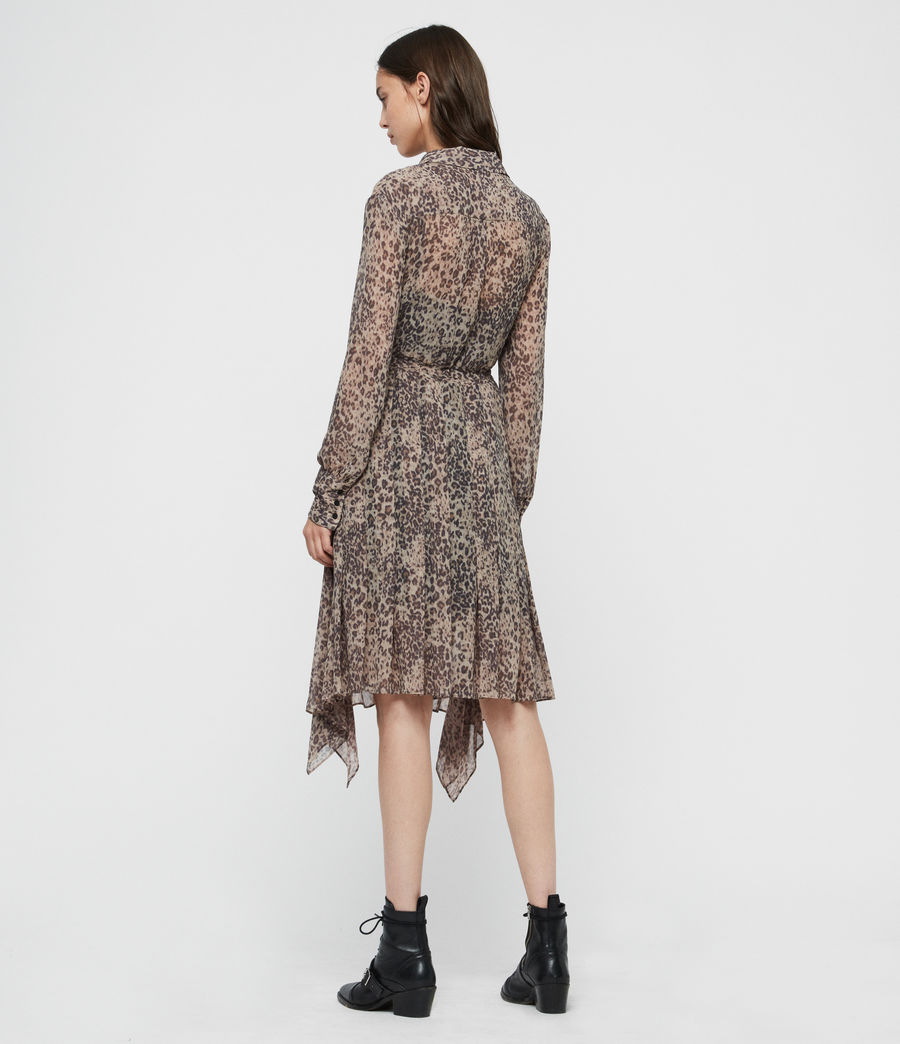 Women's Lizzy Patch Dress (camel_brown) - Image 4
