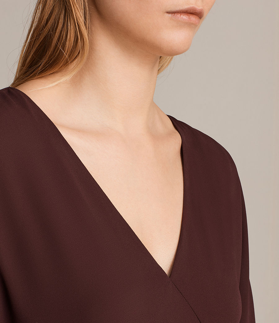 Womens Marley Dress (bordeaux_red) - Image 4
