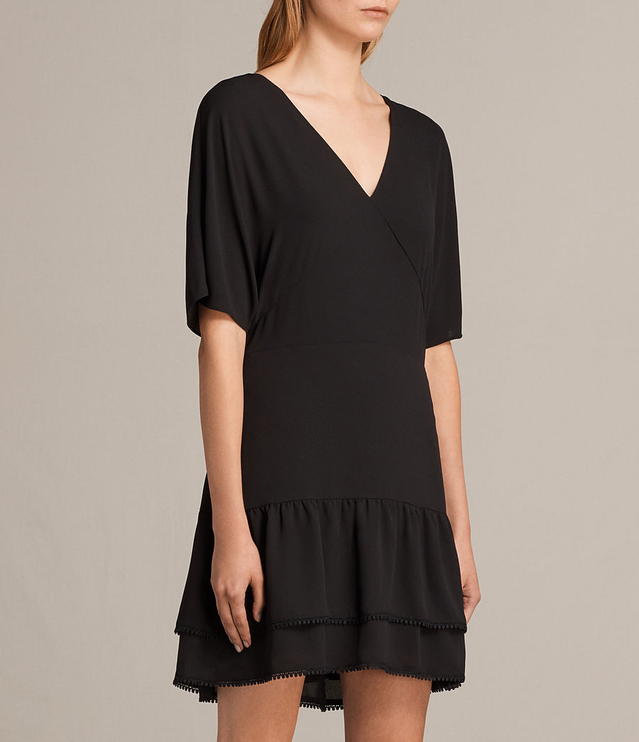 Womens Marley Dress (black) - Image 3