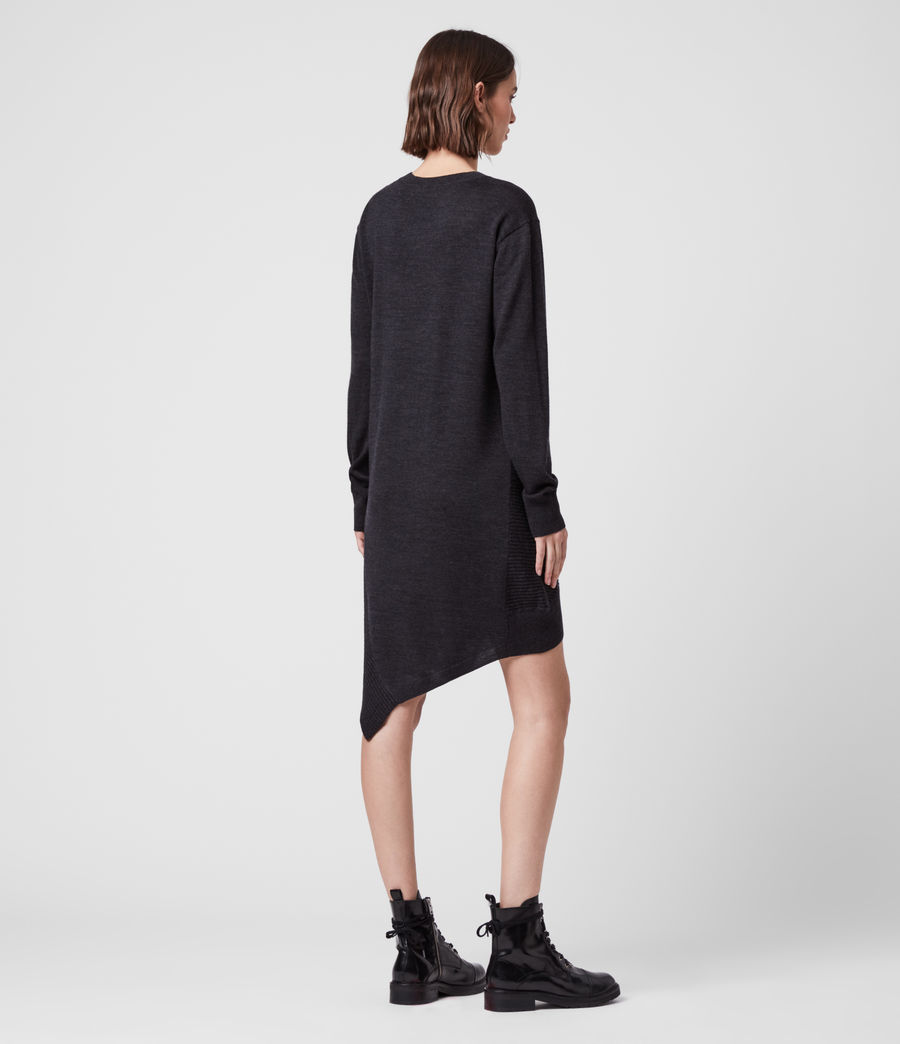 Womens Baya Merino Wool Dress (cinder_black_marl) - Image 5