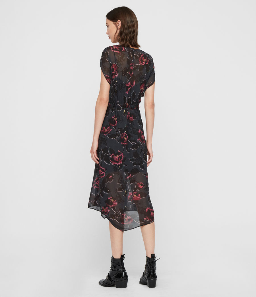 Femmes Robe Florale Romina Rosalyn (washed_black) - Image 6