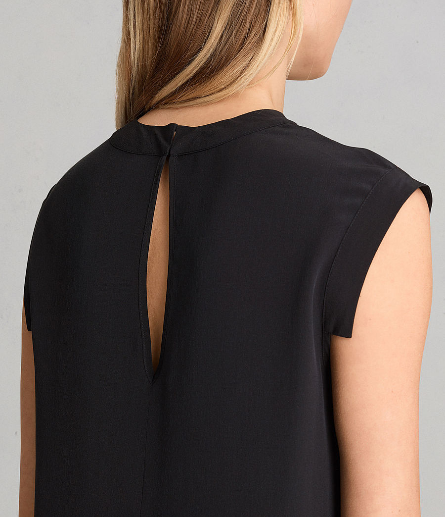 Women's Tonya Lew Silk Dress (black) - Image 4