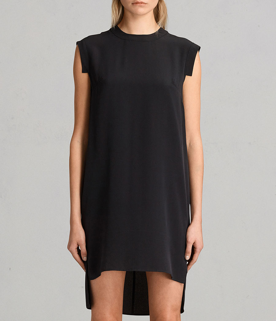 Women's Tonya Lew Silk Dress (black) - Image 5