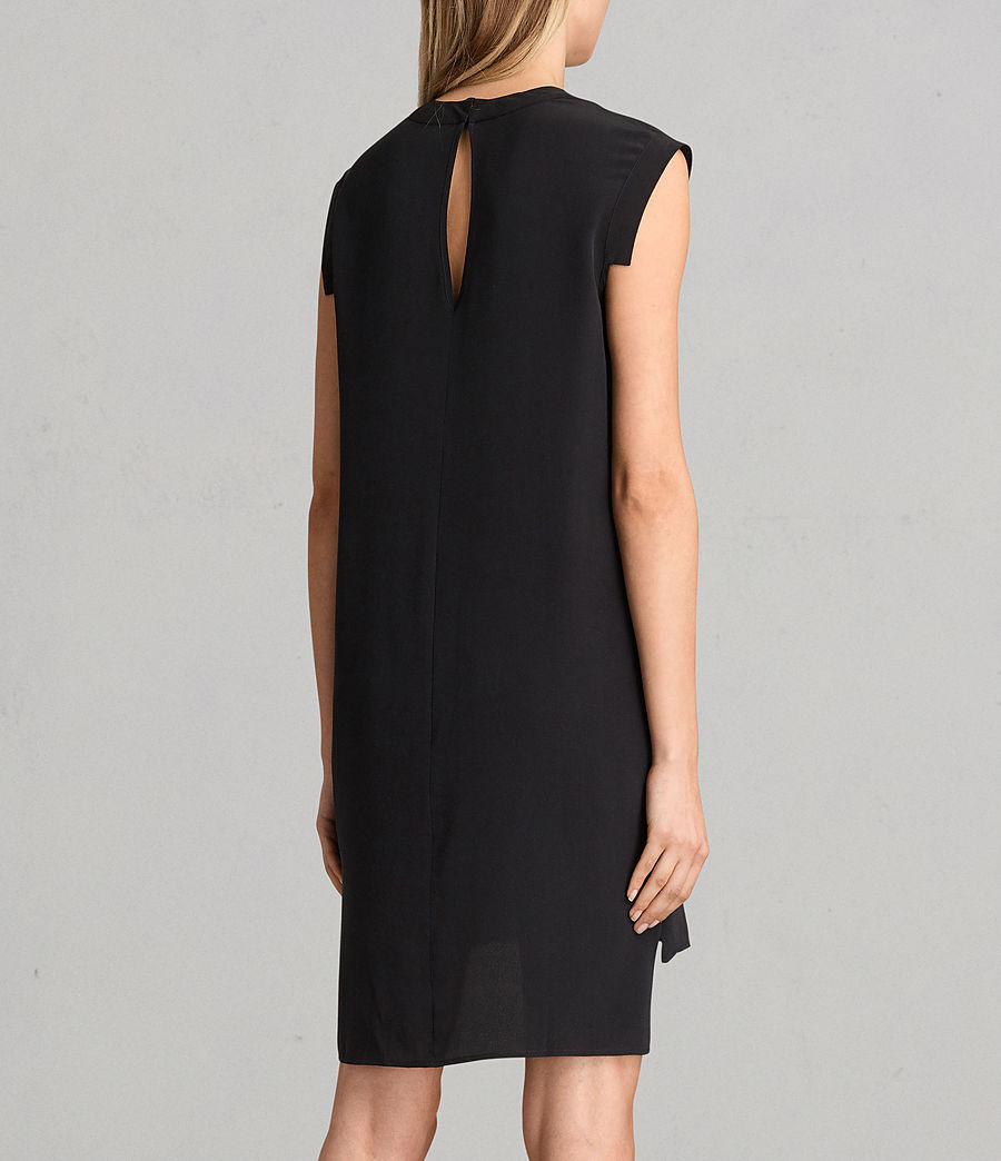 Women's Tonya Lew Silk Dress (black) - Image 7