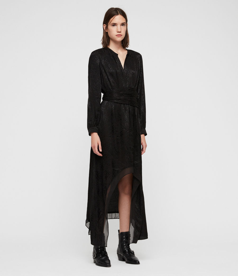 Womens Tessa Dress (black) - Image 3