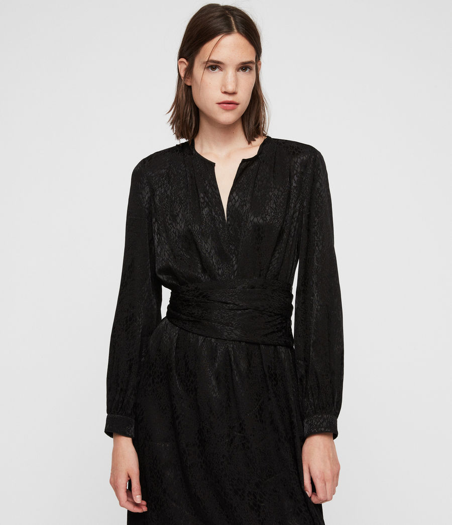 Womens Tessa Dress (black) - Image 4
