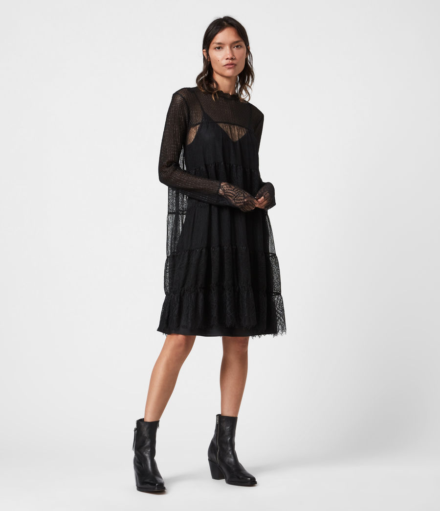 Womens Briella Lace Dress (black) - Image 1