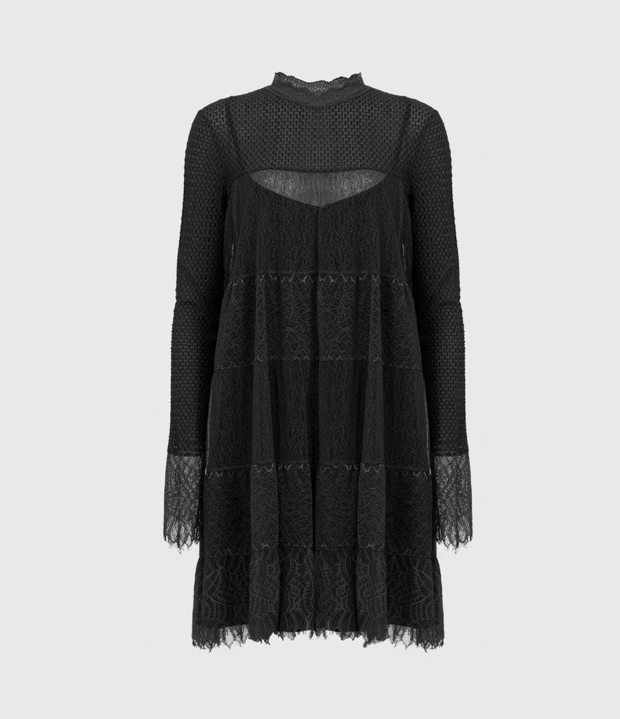 Womens Briella Lace Dress (black) - Image 2