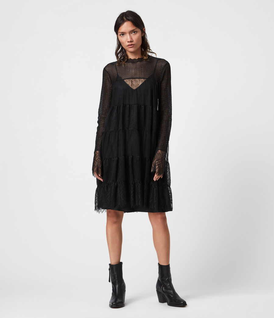 Womens Briella Lace Dress (black) - Image 4